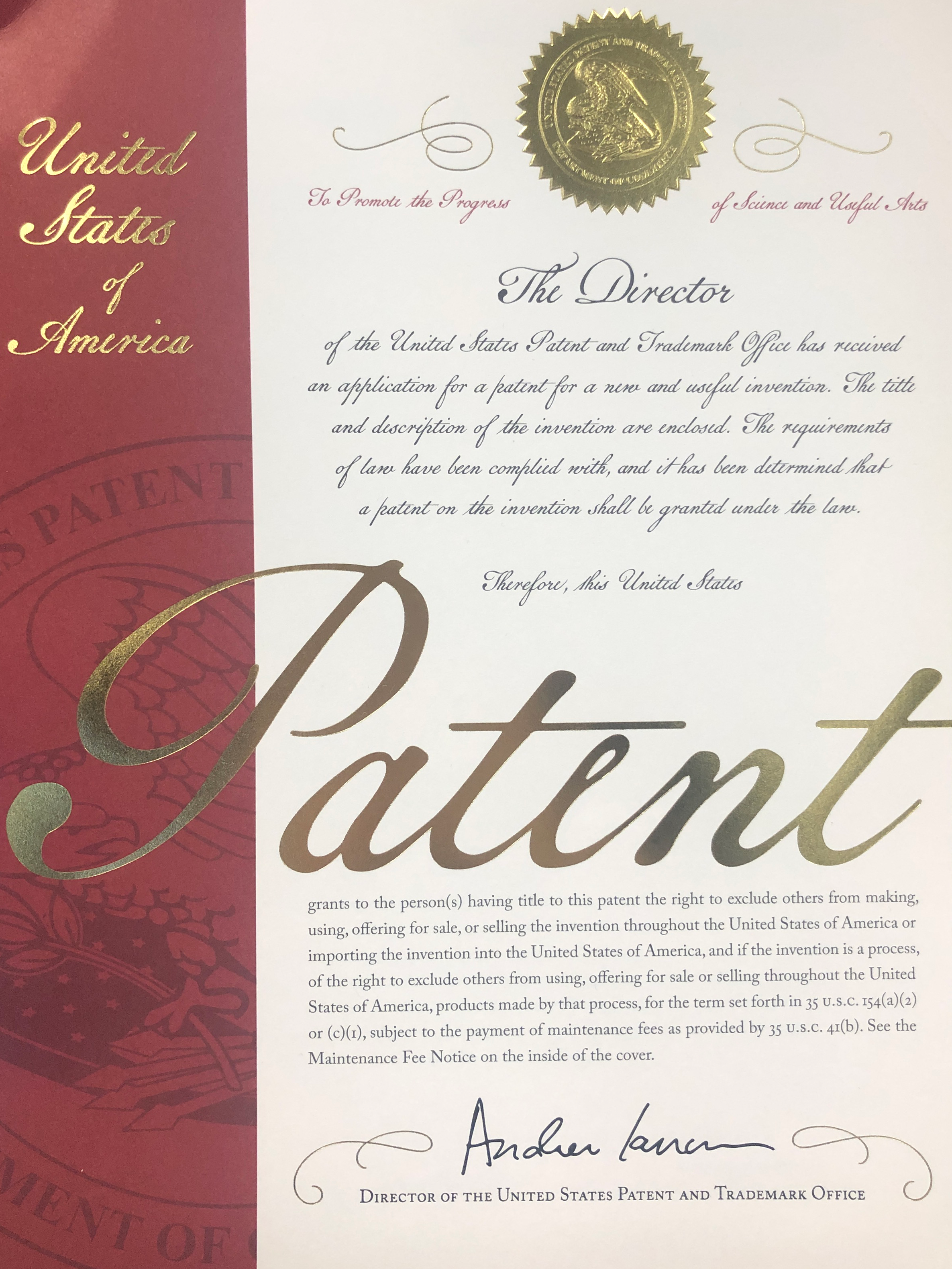 WiseTime secures a US patent for core parts of our software